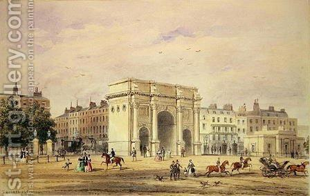 The Marble Arch by Thomas Hosmer Shepherd - Reproduction Oil Painting