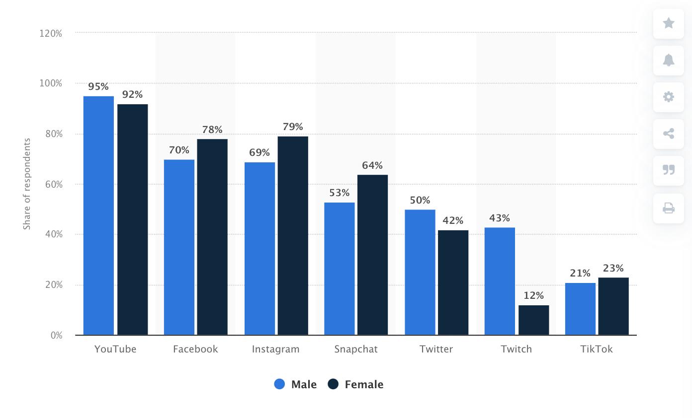 social media platforms breakdown