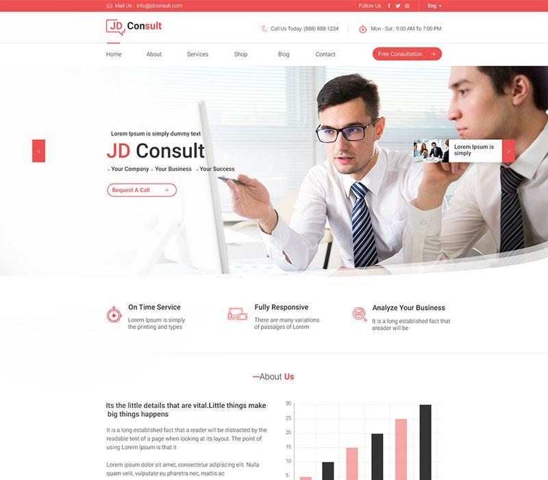 Consulting Joomla template