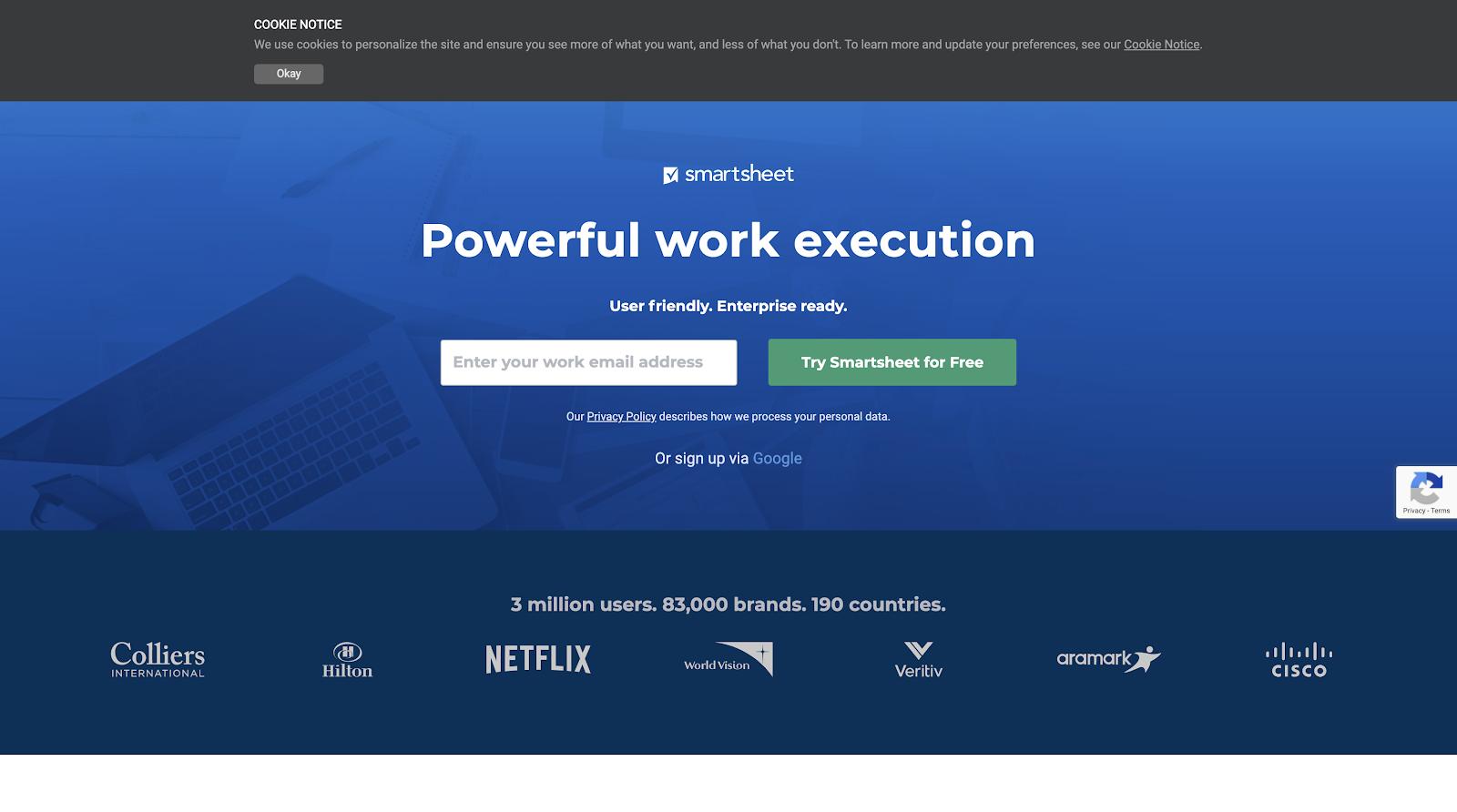 Smartsheet - Powerful work execution