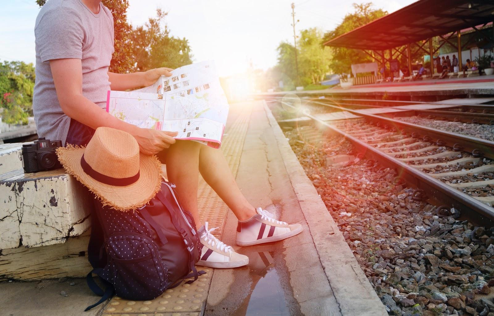 travel, solo, adventure, map, train