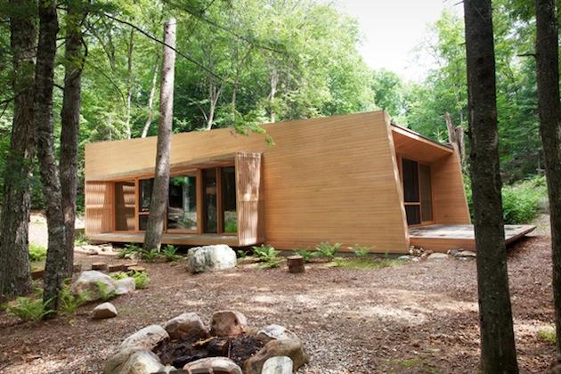 Dosis arquitectura cedro roble y nogal casa de invierno for Casa moderna kw