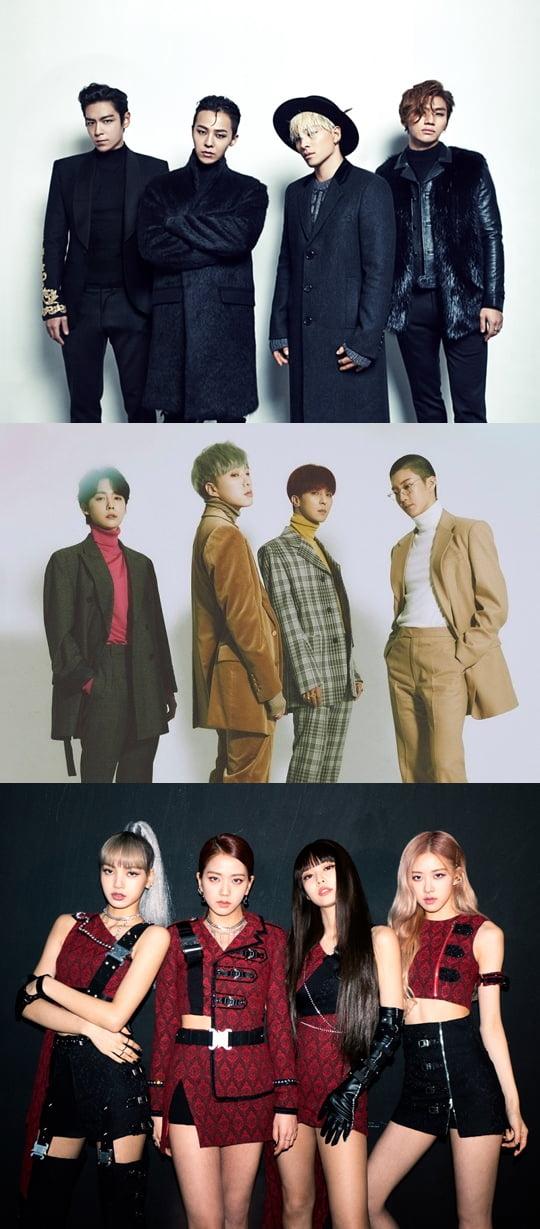 그룹 빅뱅, 위너, 블랙핑크  / 사진제공=YG엔터테인먼트