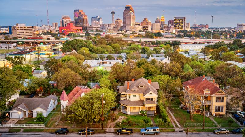 residential homes outside Downtown San Antonio