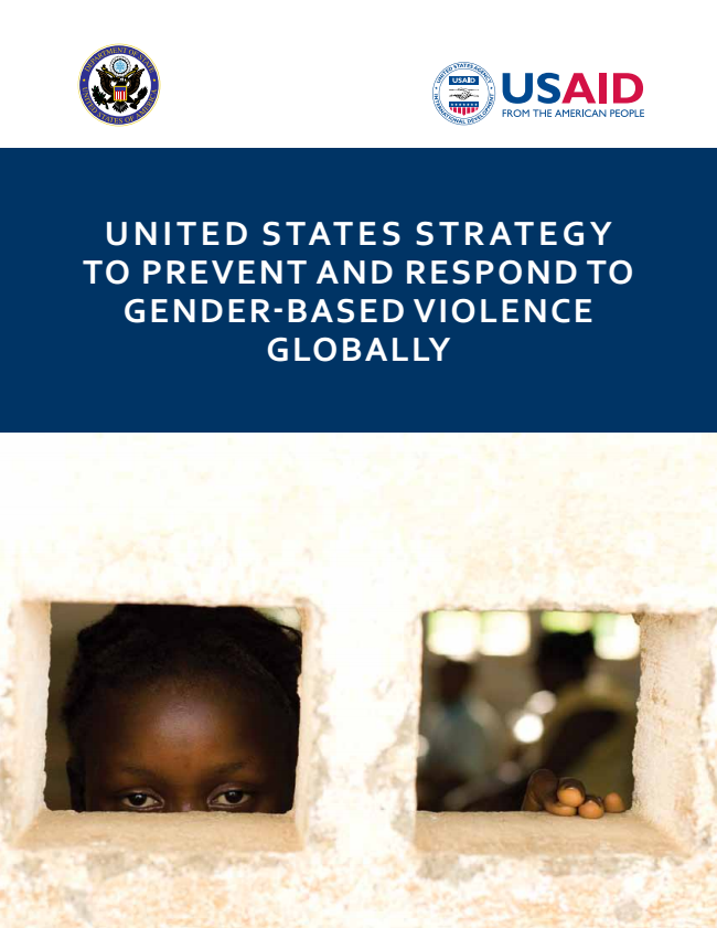United StateS Strategy to Prevent and reSPond to GENDER ...