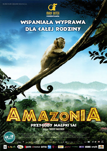 Przód ulotki filmu 'Amazonia. Przygody Małpki Sai'