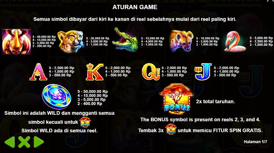 Peraturan Game Judi Slot Online Great Rhino