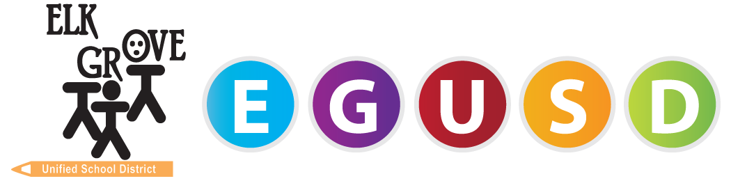 EGUSD_badge_circle.png is a newly formatted logo featuring the acronym of the school district in colorful logos.