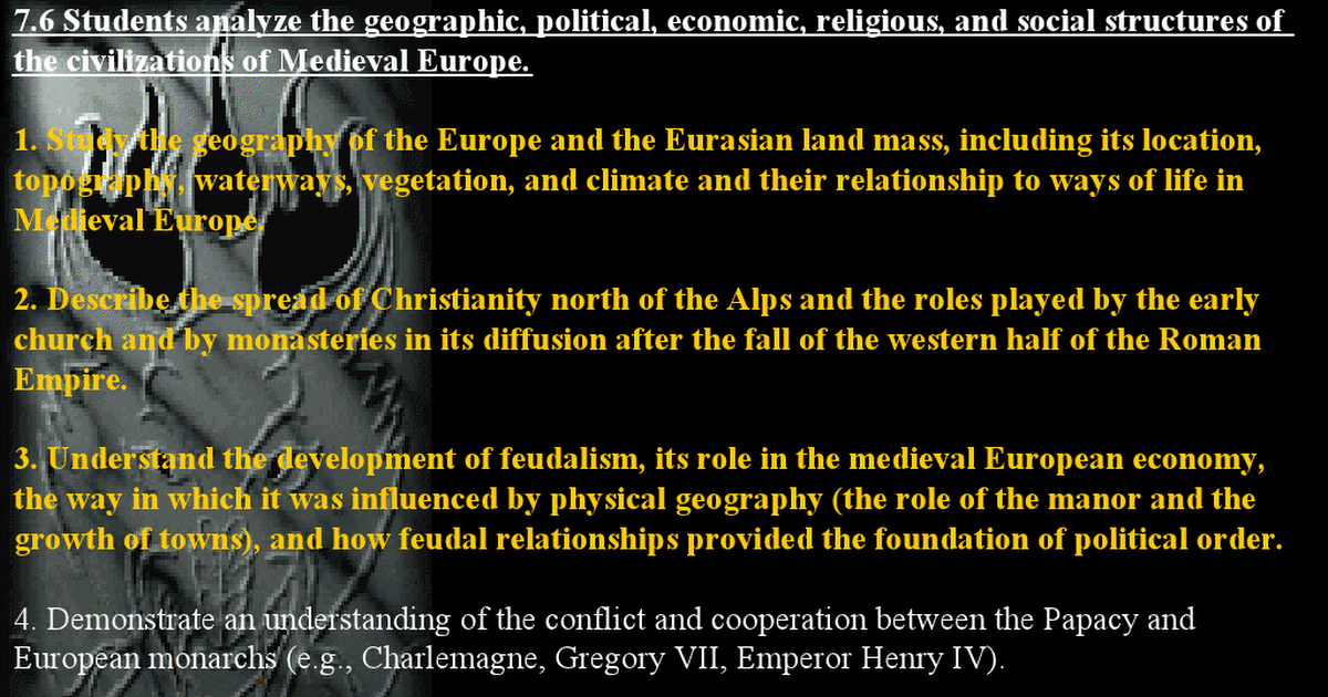 emergence of religion following the dark ages Feudalism was a political and military arrangement between a lord of the middle ages and his vassals a decentralized form of governing, it began in france approximately 900 ad and eventually reached england, spain and the rest of western europe.