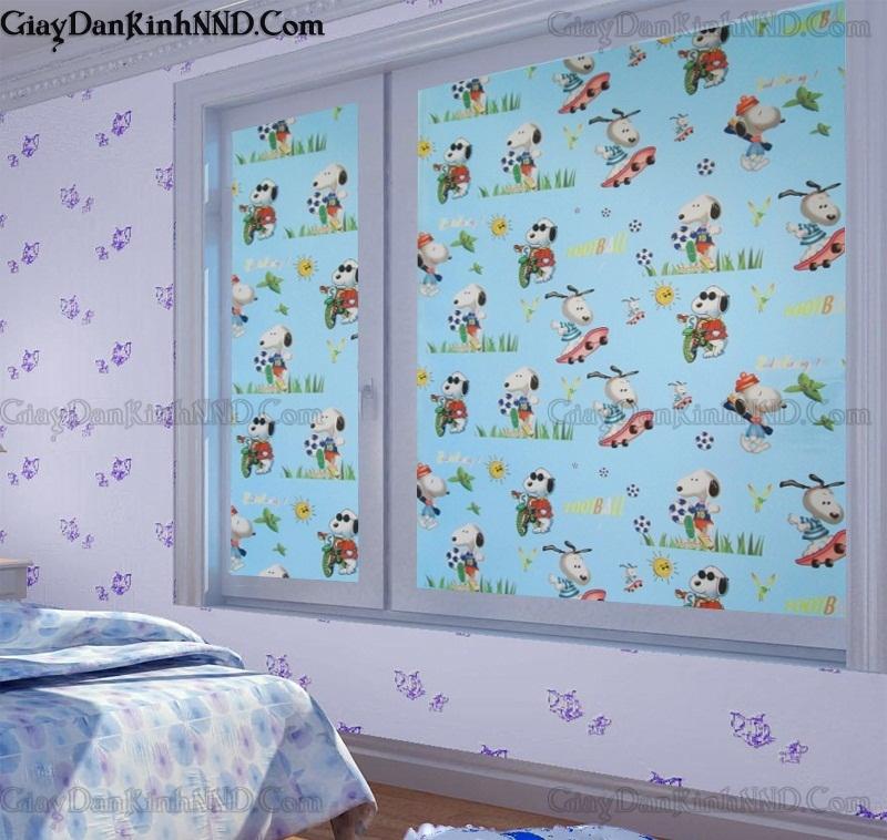 Mẫu decal dán kính cửa sổ phòng ngủ họa tiết những chú cho đáng yêu