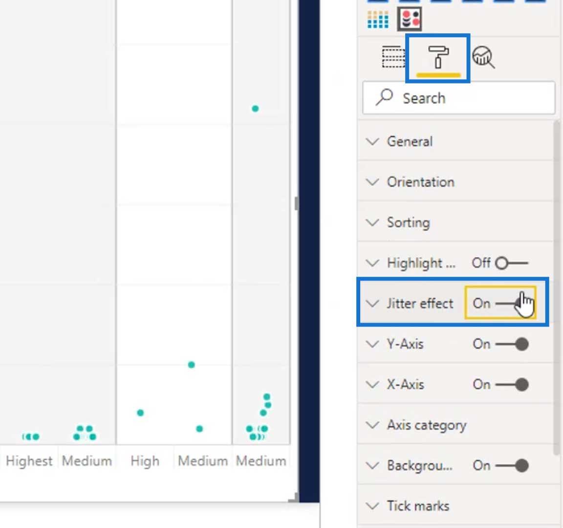 Jitter effect for Dot Plot Graphs In Power BI
