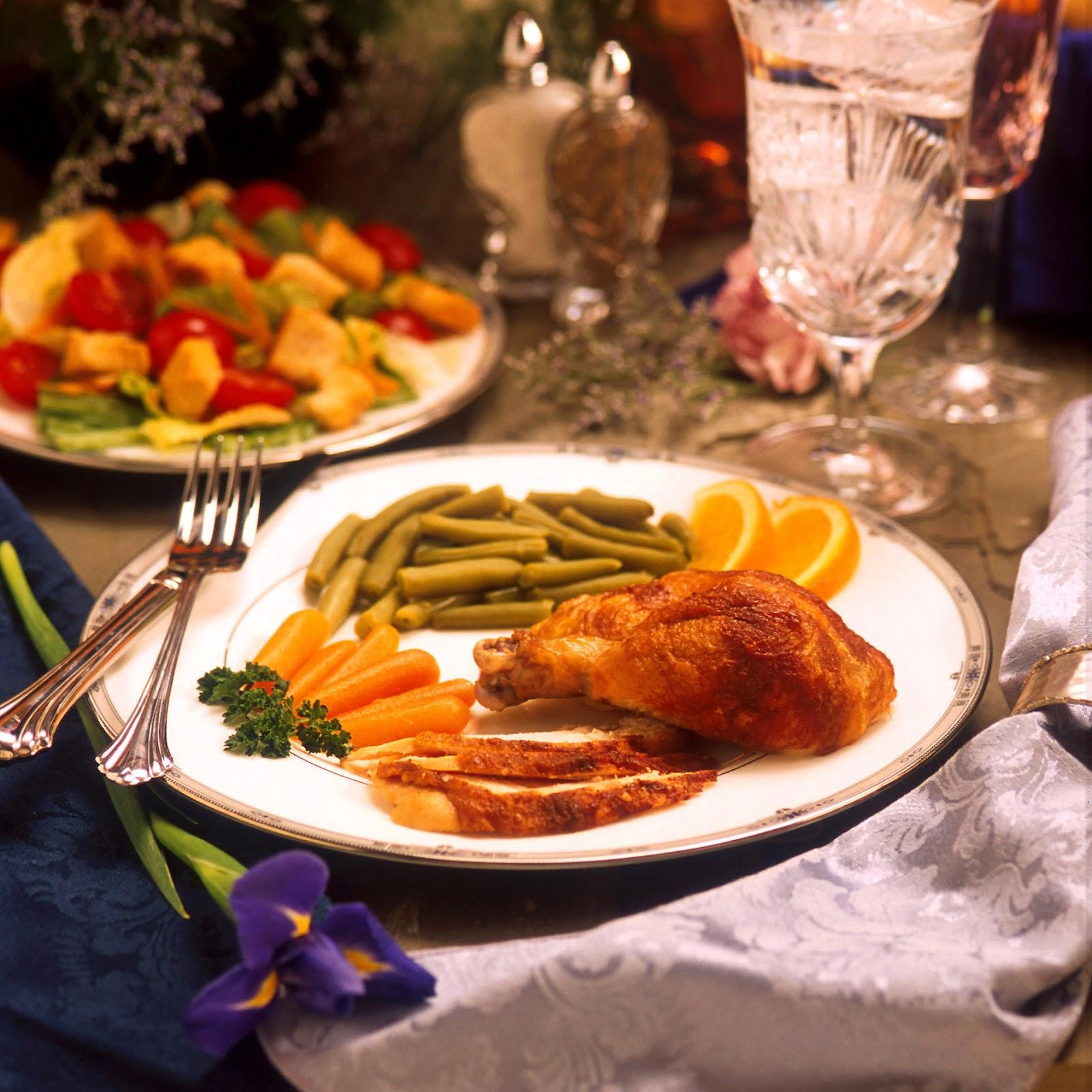 A formal American dinner