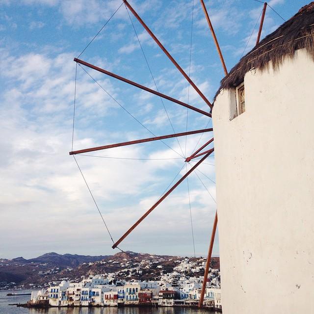 Mykonos Windmills in Greece.