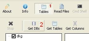 hack database website dengan havij