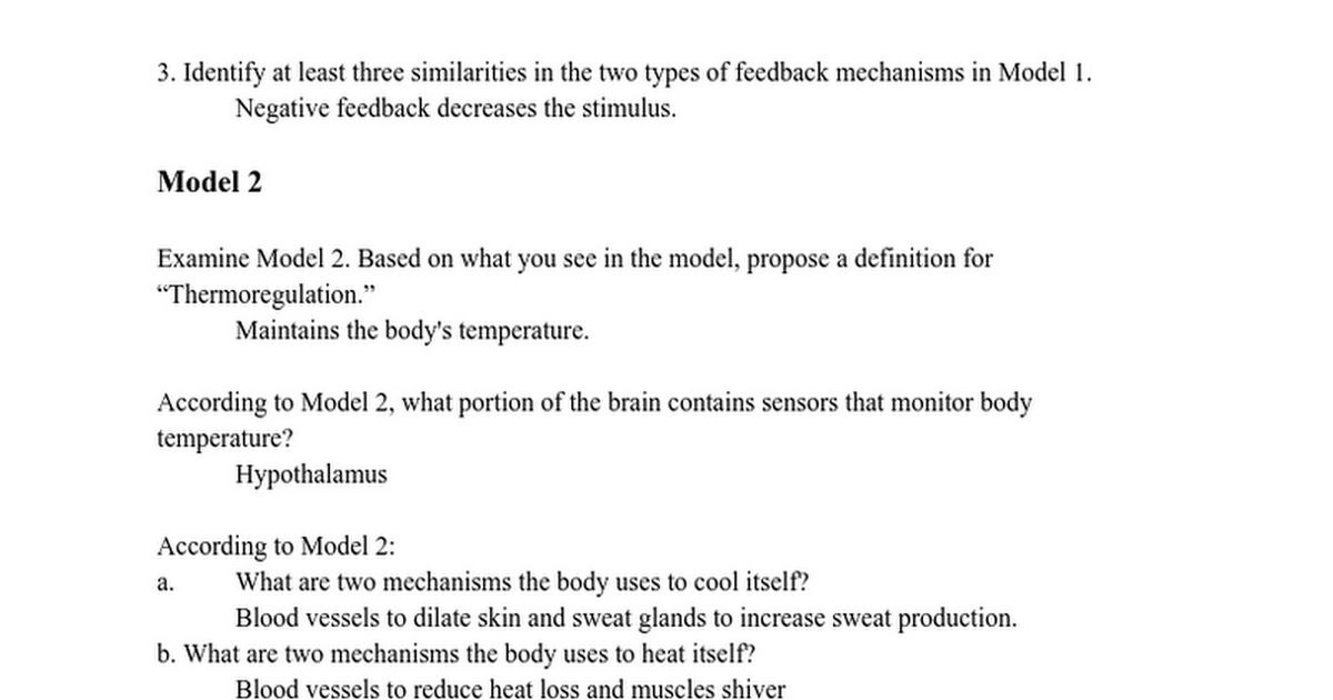 Endocrine Response Sheet - Google Docs