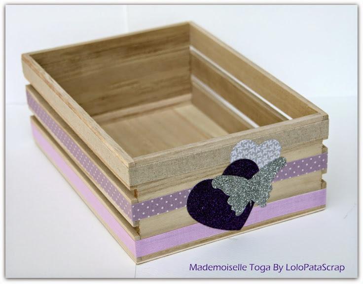 De la customisation textile et un peu de couture en mademoiselle toga le p - Customiser une cagette ...