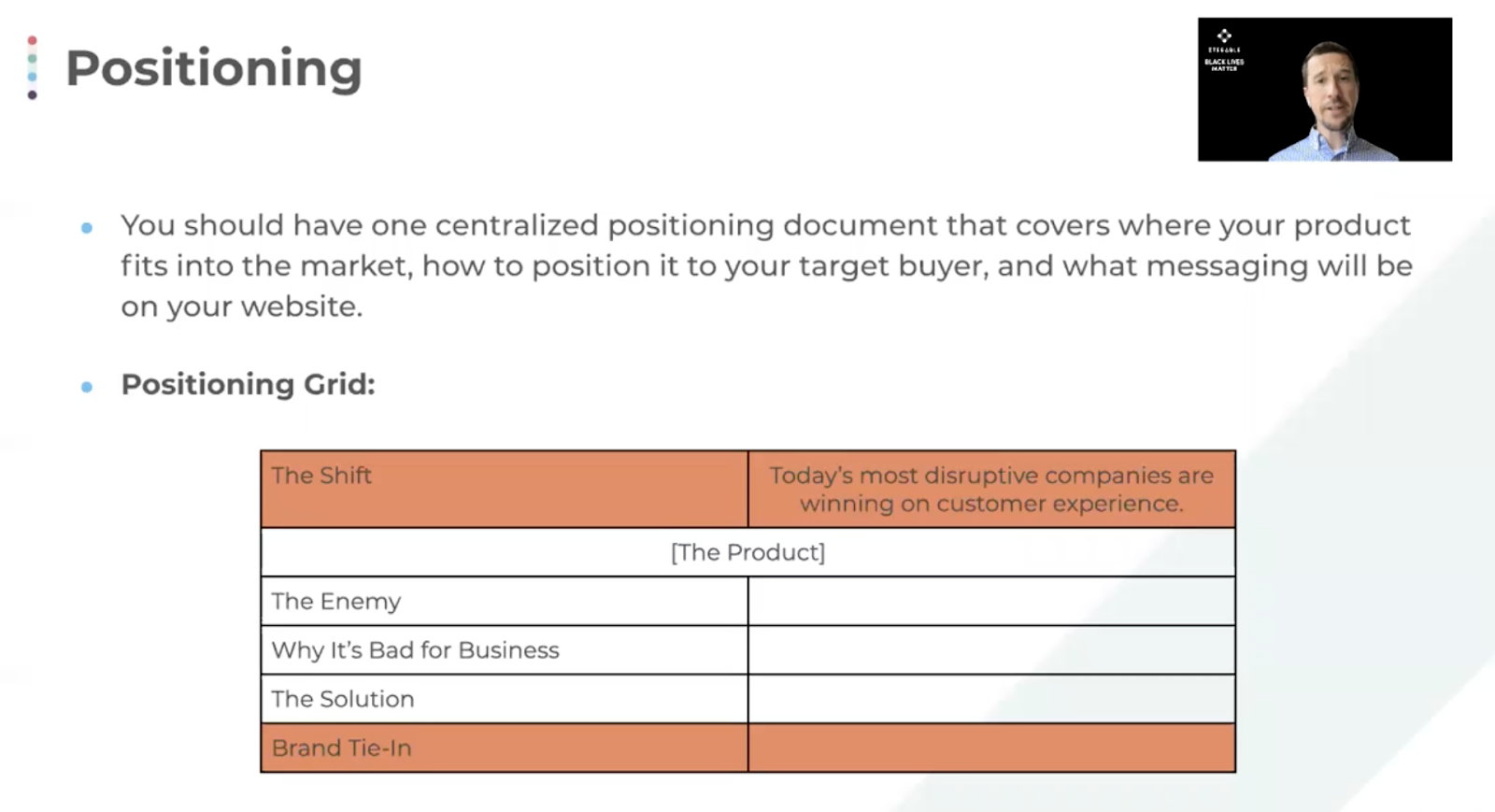The positioning of your product is essential during the GTM process.