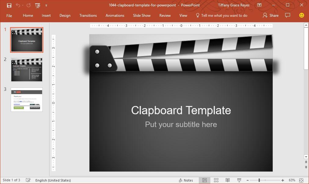 clapboard-powerpoint-template