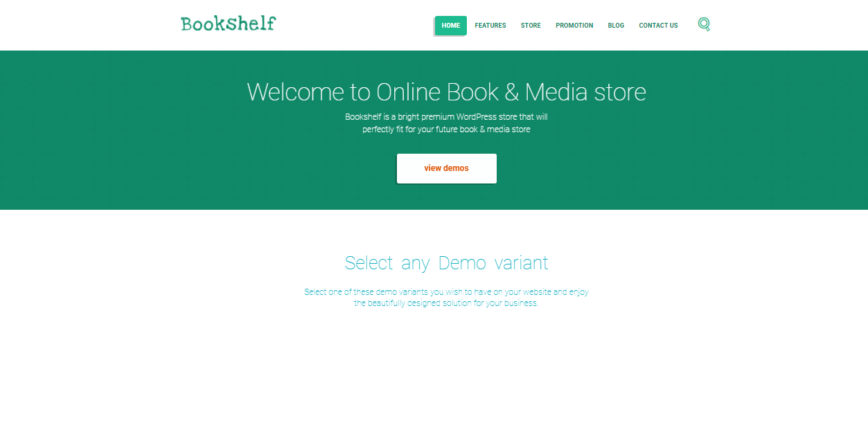Bookshelf - digital products woocommerce theme