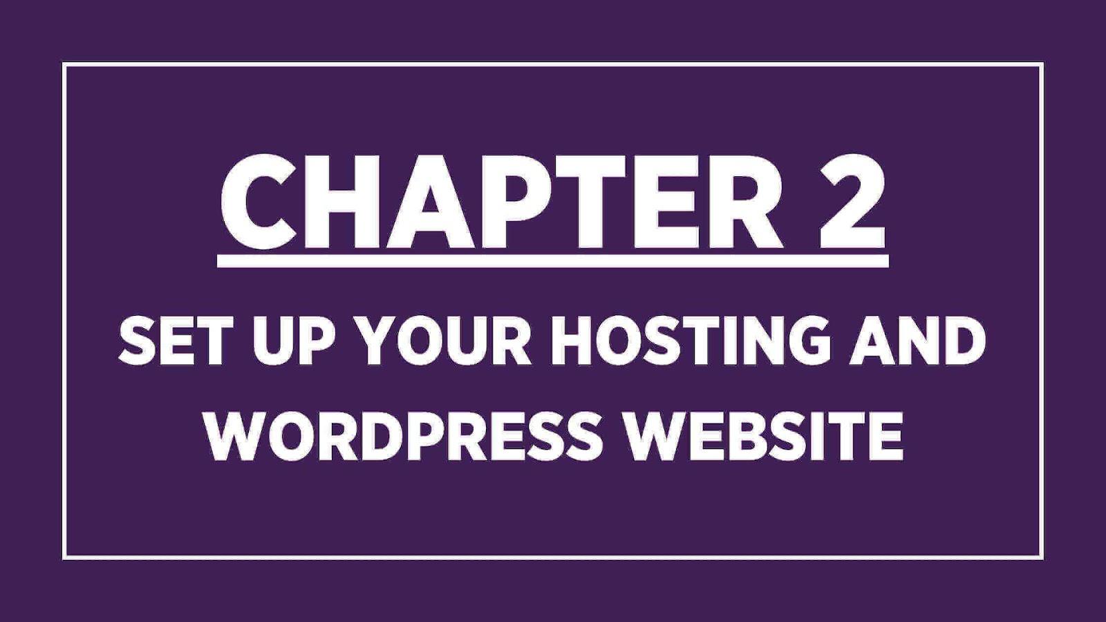 Chapter 2 banner: Set up hosting