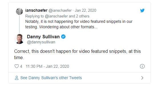 изменение не касается блоков ответов с видео контентом