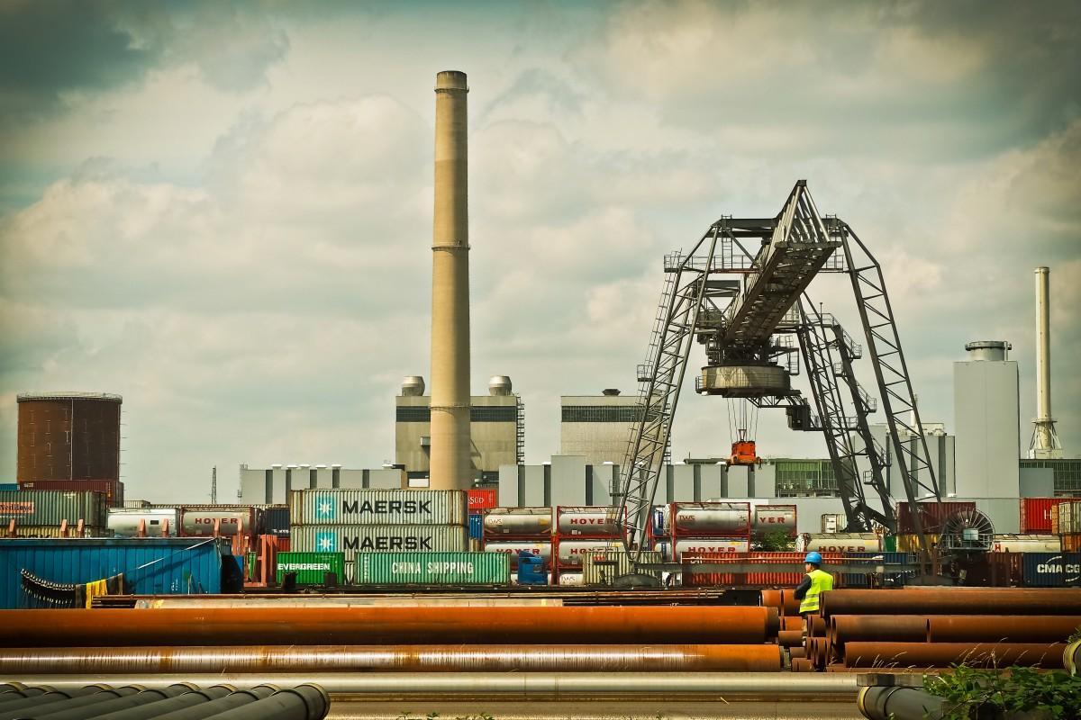 steel, transport, vehicle, metal, chimney, factory
