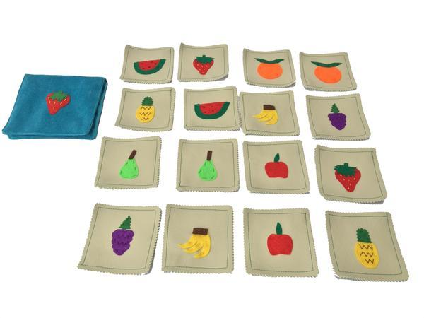 Matching fruits memory game