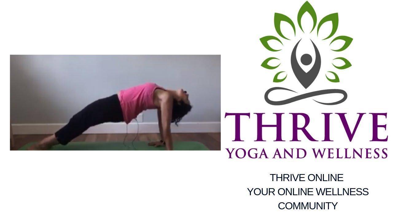 Yoga Basics Purvottanasana Or Reverse Table Top Or Upward Plank Pose Thrive Yoga And Wellness