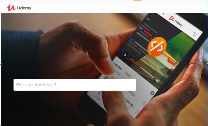 No-code Udemy clone app user interface design