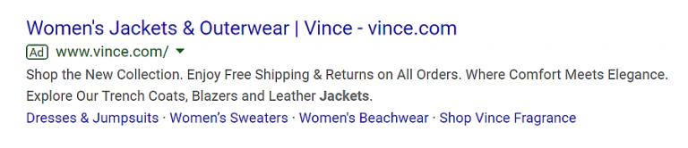 exemplo de campanha com objetivo de anúncios jaquetas para mulheres