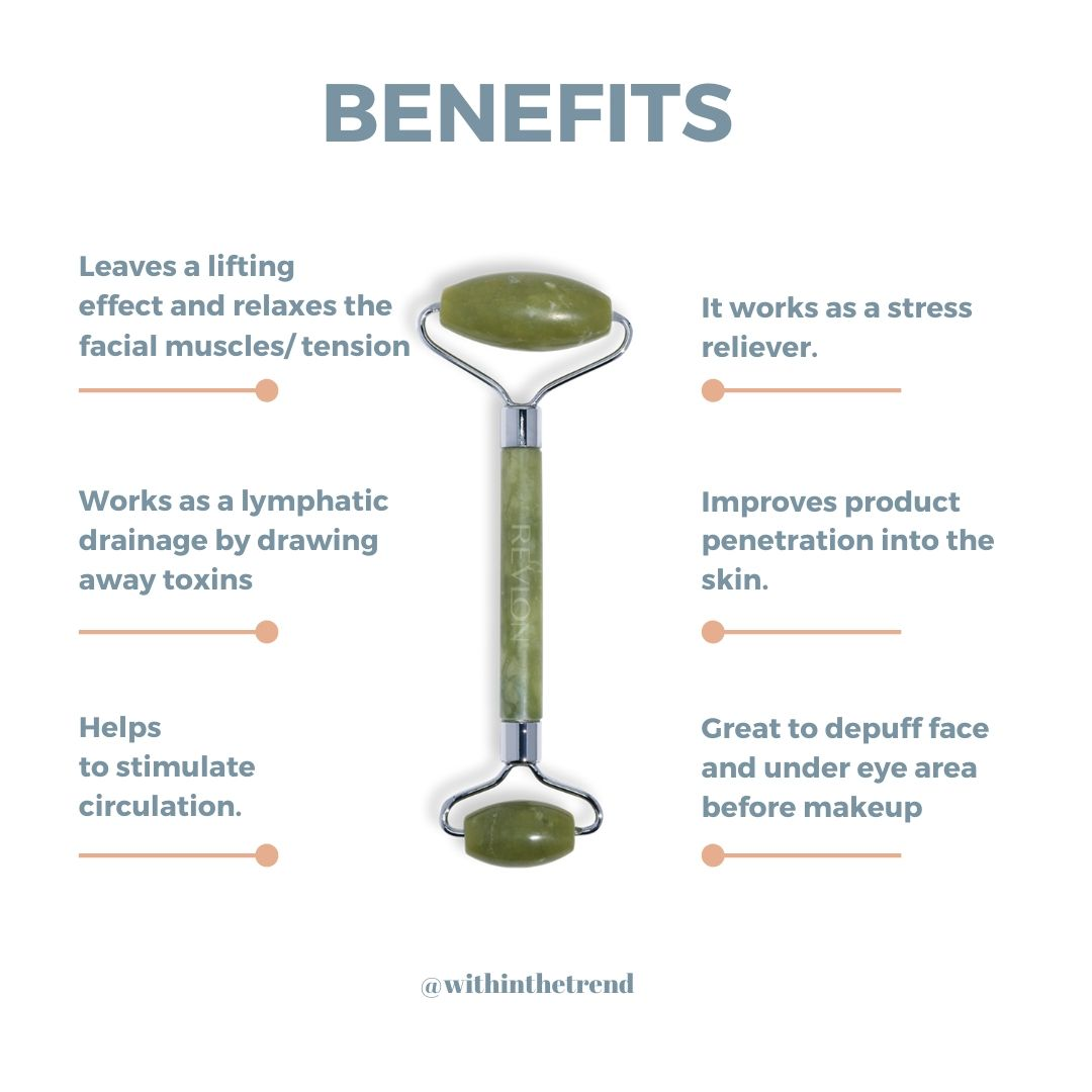 Infographic : Face roller benefits