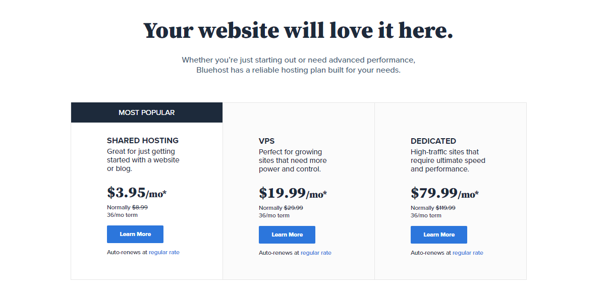 Bluehost Cheap web hosting