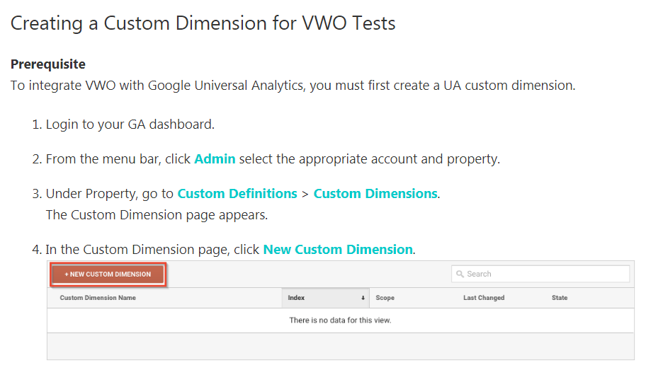 vwo's documentation on setting up segments in google analytics.