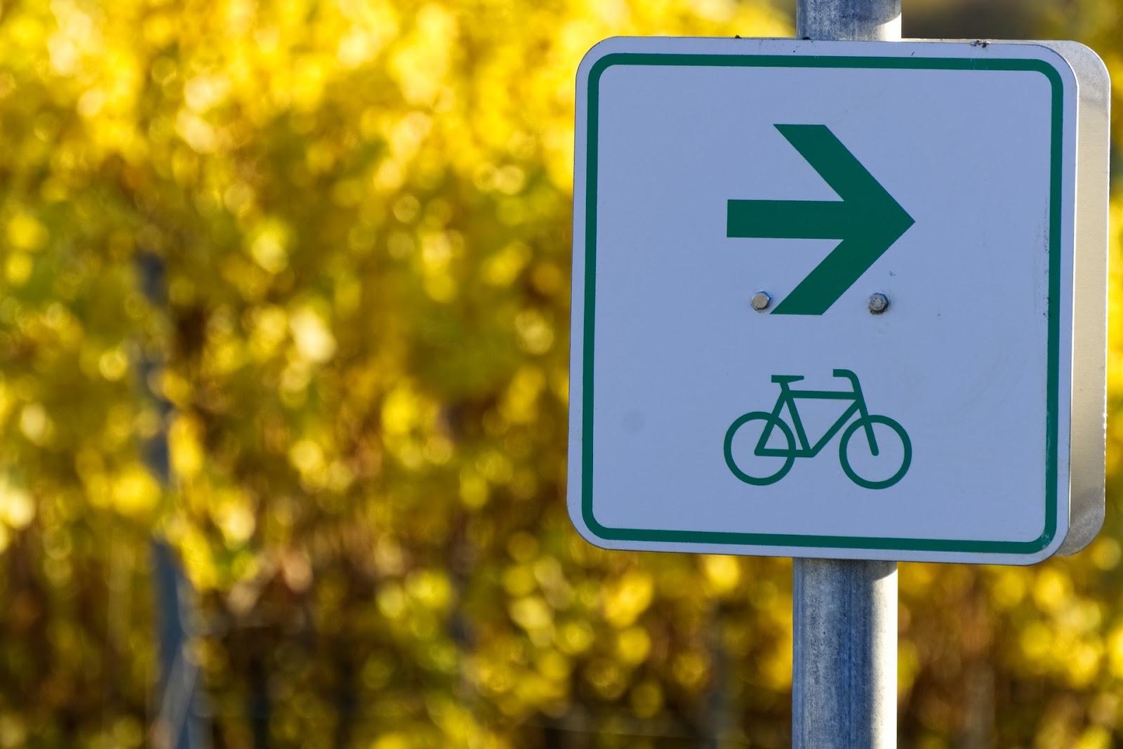 Sinalização para tráfego de bicicletas