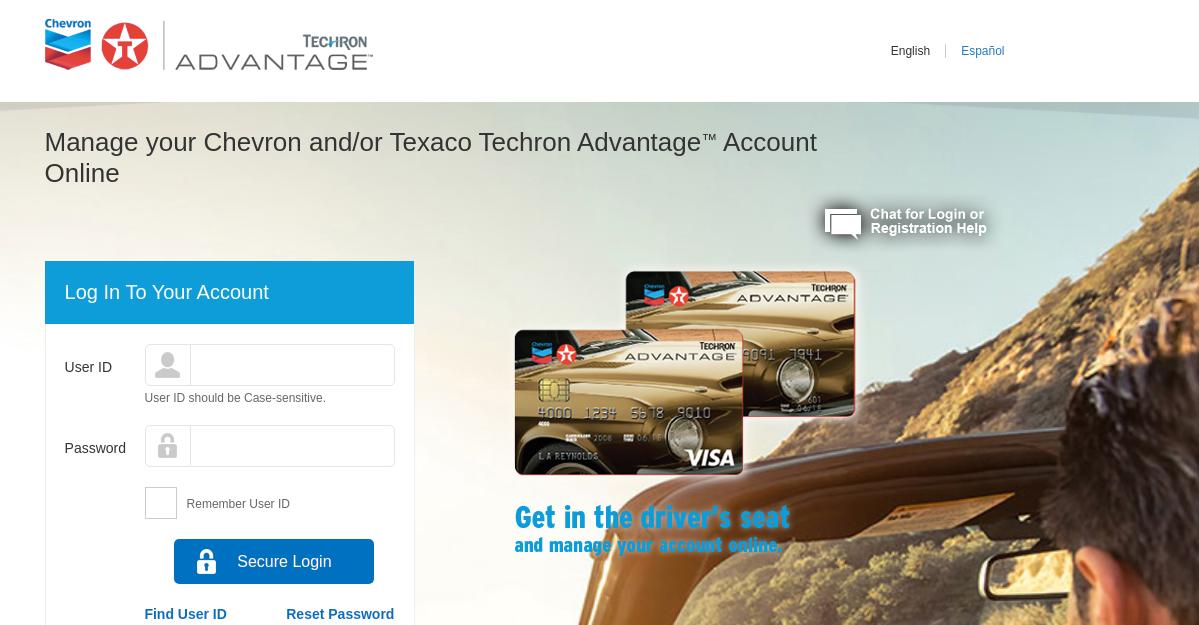 Techron Advantage Visa Credit Card