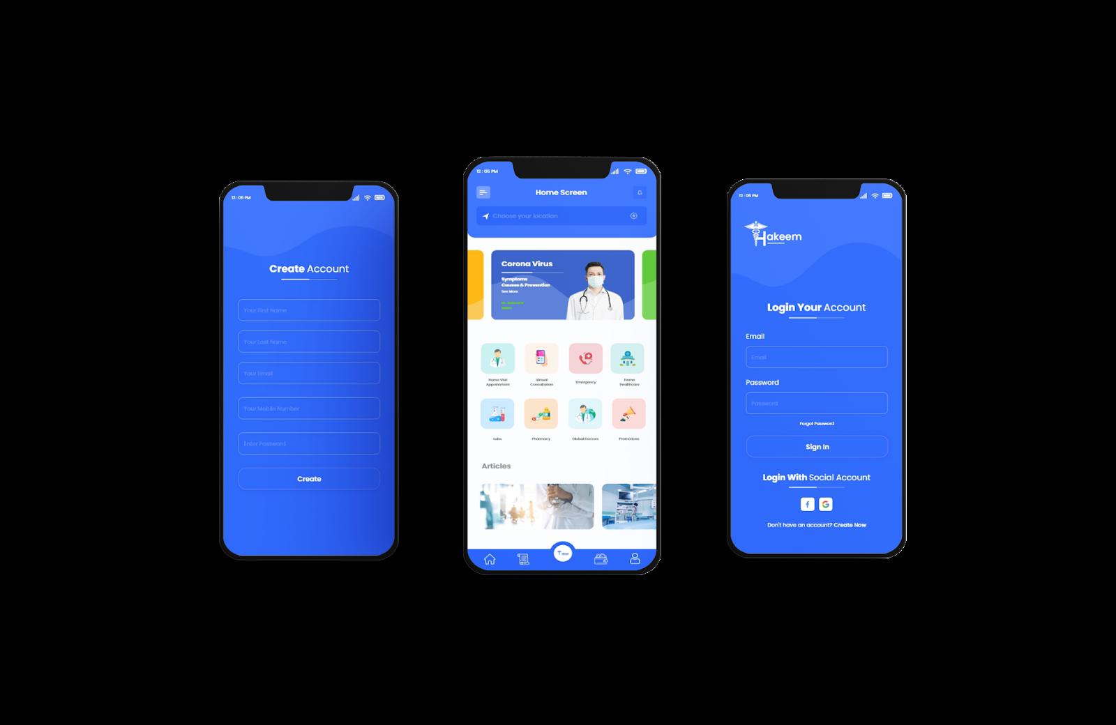 Hakeem Doctor Booking App - YelloStack