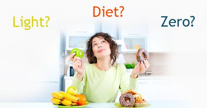 Resultado de imagem para produtos light, diet, zero