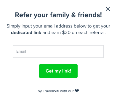 travel wifi refer your friends