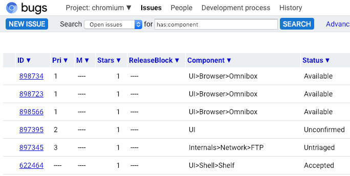 PSA: A new look for bugs chromium org - Google Groups