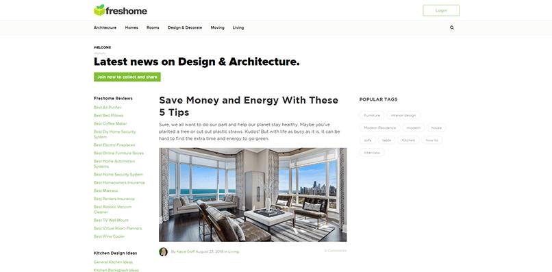 Fresh Home's blog