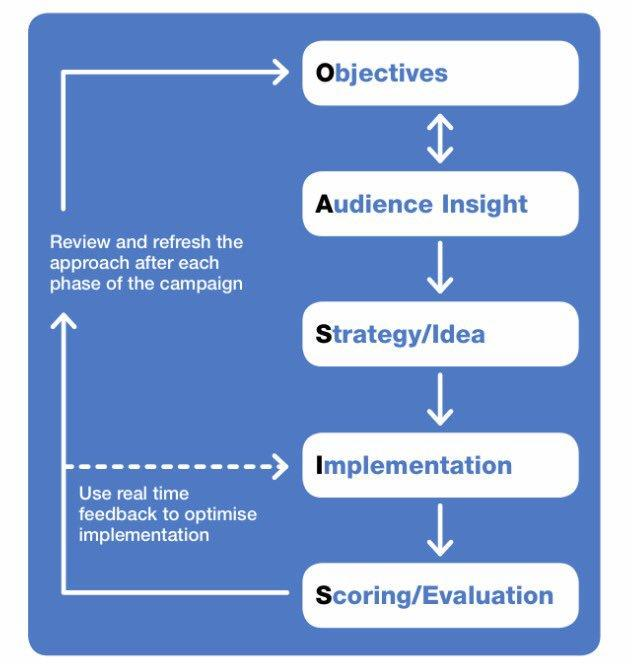 Diagram of OASIS, UK Government Campaign Planning approach.