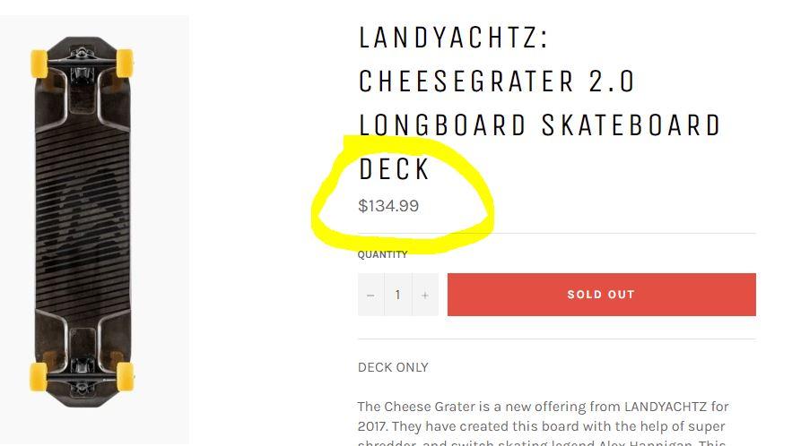 Landyachtz Cheesegrater price