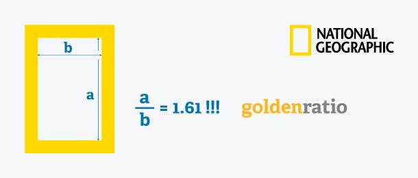 Golden Ratio pada logo national geographic