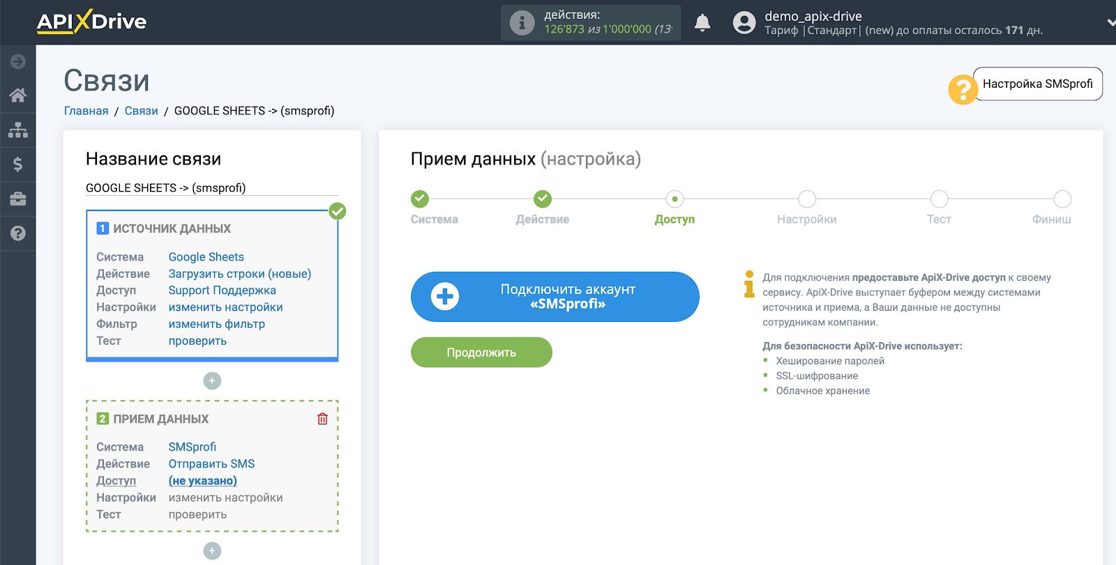 Настройка Приема данных в SMSprofi | Подключение аккаунта