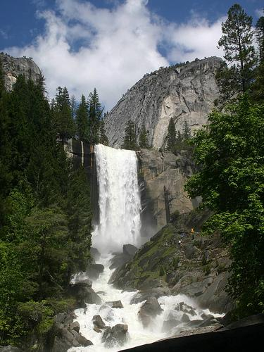 Beautiful Vernal Falls at Yosemite National Park