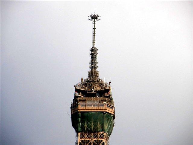 Вершина Эйфелевой башни