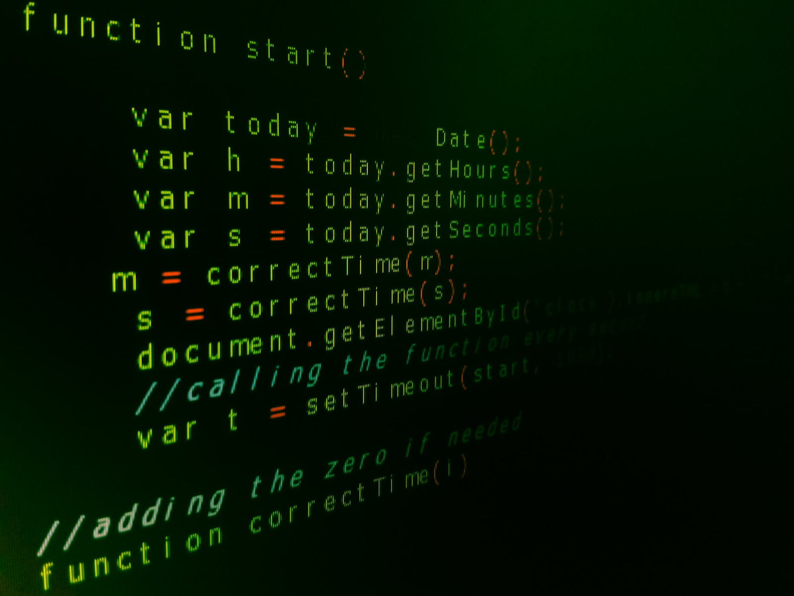 Code for website design on a monitor