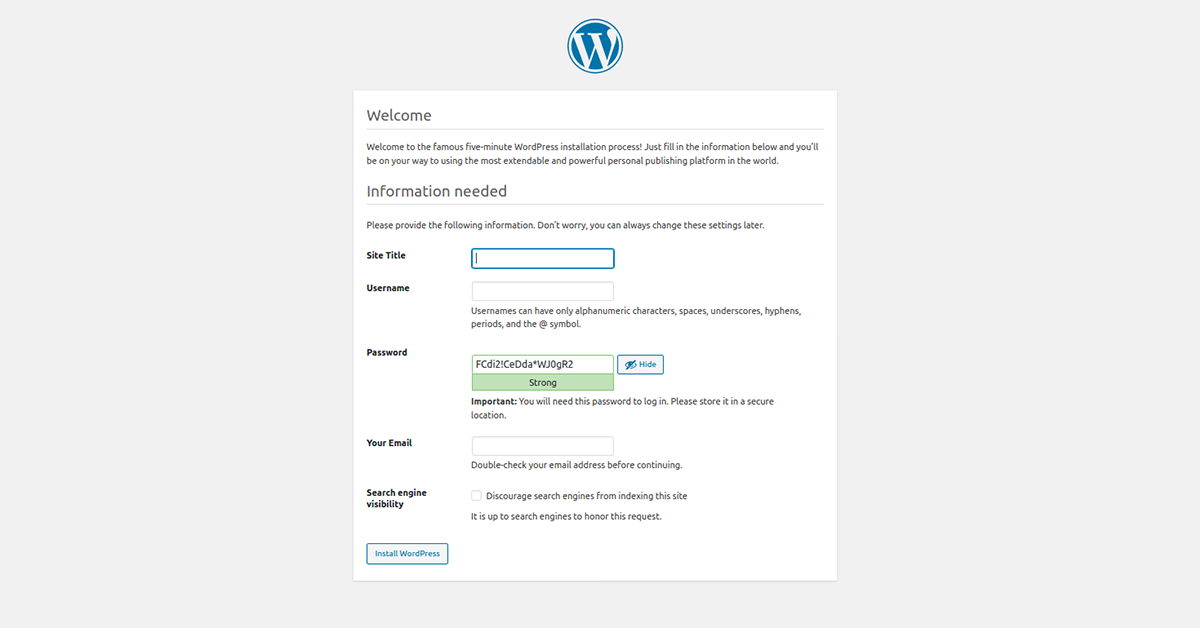 check the dockerized wordpress