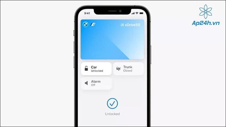 Apple Wallet giúp người dùng mở khóa và mở cốp xe