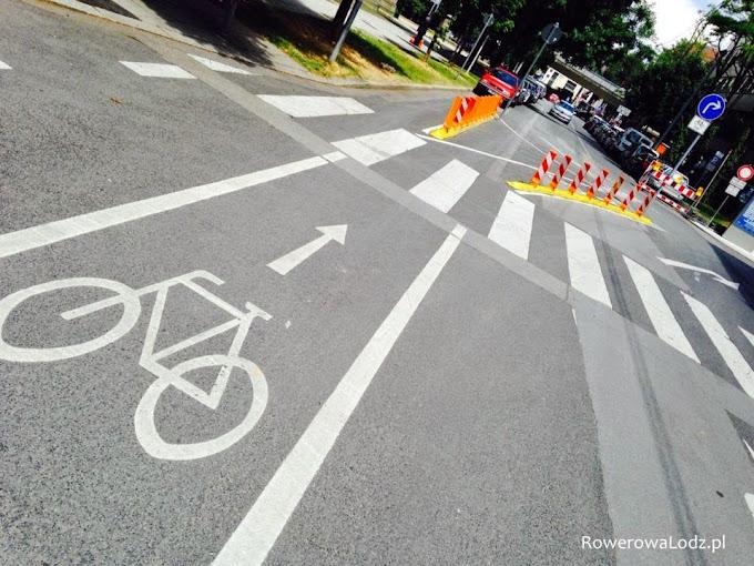 Pas ruchu dla rowerów.